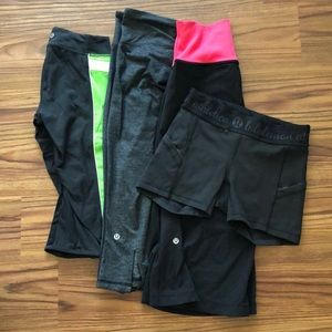 Lululemon Bundle Capris And Shorts 2 and 4